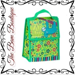 """""""Eat Sleep Repeat"""" Insulated Lunch Tote"""